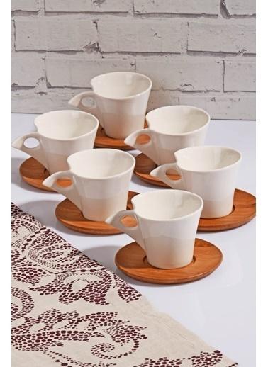 Kosova Bambu Porselen Kahve Fincan Takımı Seti - 12 Prç.Kahve Fincanı Renkli